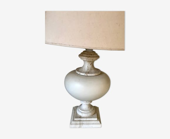 Lampe en travertin vintage