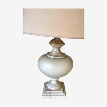 Vintage travertine lamp