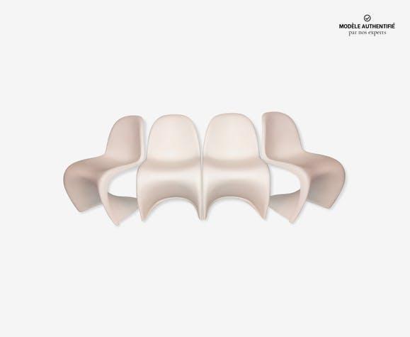 Lot de 4 chaises par Verner Panton éditées pour Vitra