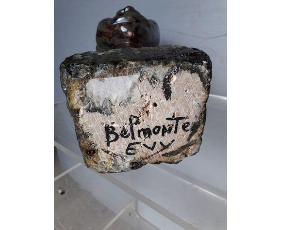 Buste polychrome terre cuite vernissée ep 1970 6,5kg!