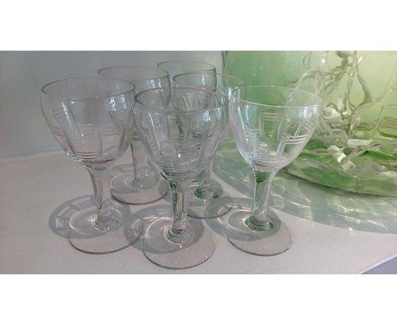 Set de 6 verres de bistrot