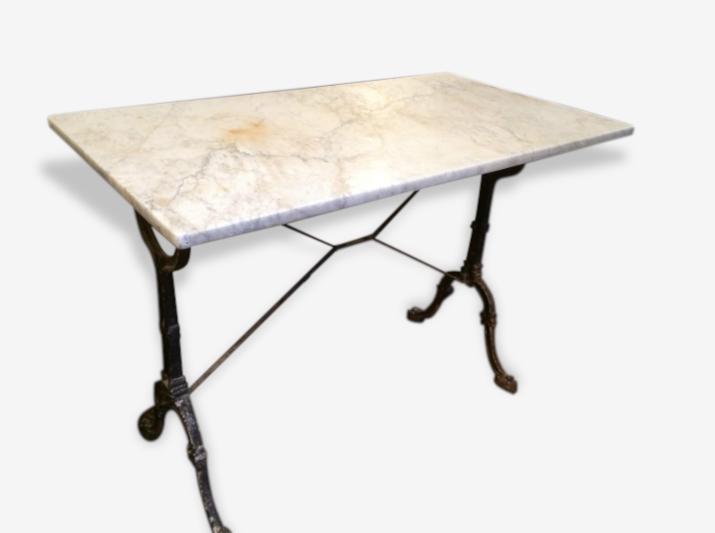 Table Bistrot Dessus Marbre