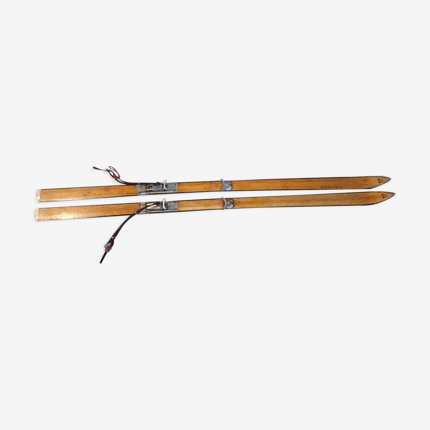 Paire de skis vintage Donnay 1,98m