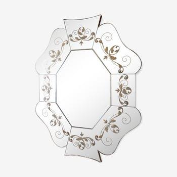 Miroir en verre eglomisé 83x65cm