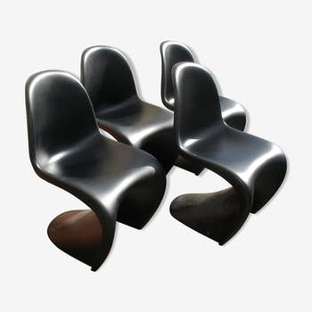 "4 chairs ""s"" of Verner Panton 1960"