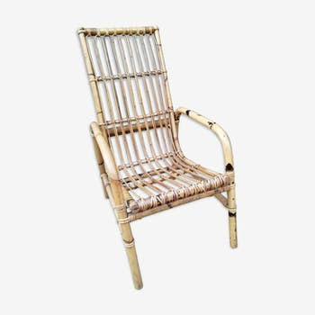 Vintage rattan armchair 50/60