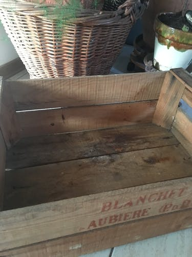 """Caisse de pommes """" Blanchet Aubière P& D"""""""