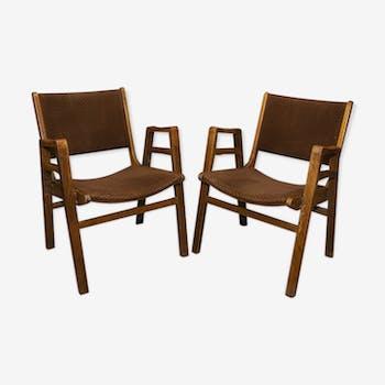Paire de chaises par František Jirák Tchécoslovaquie