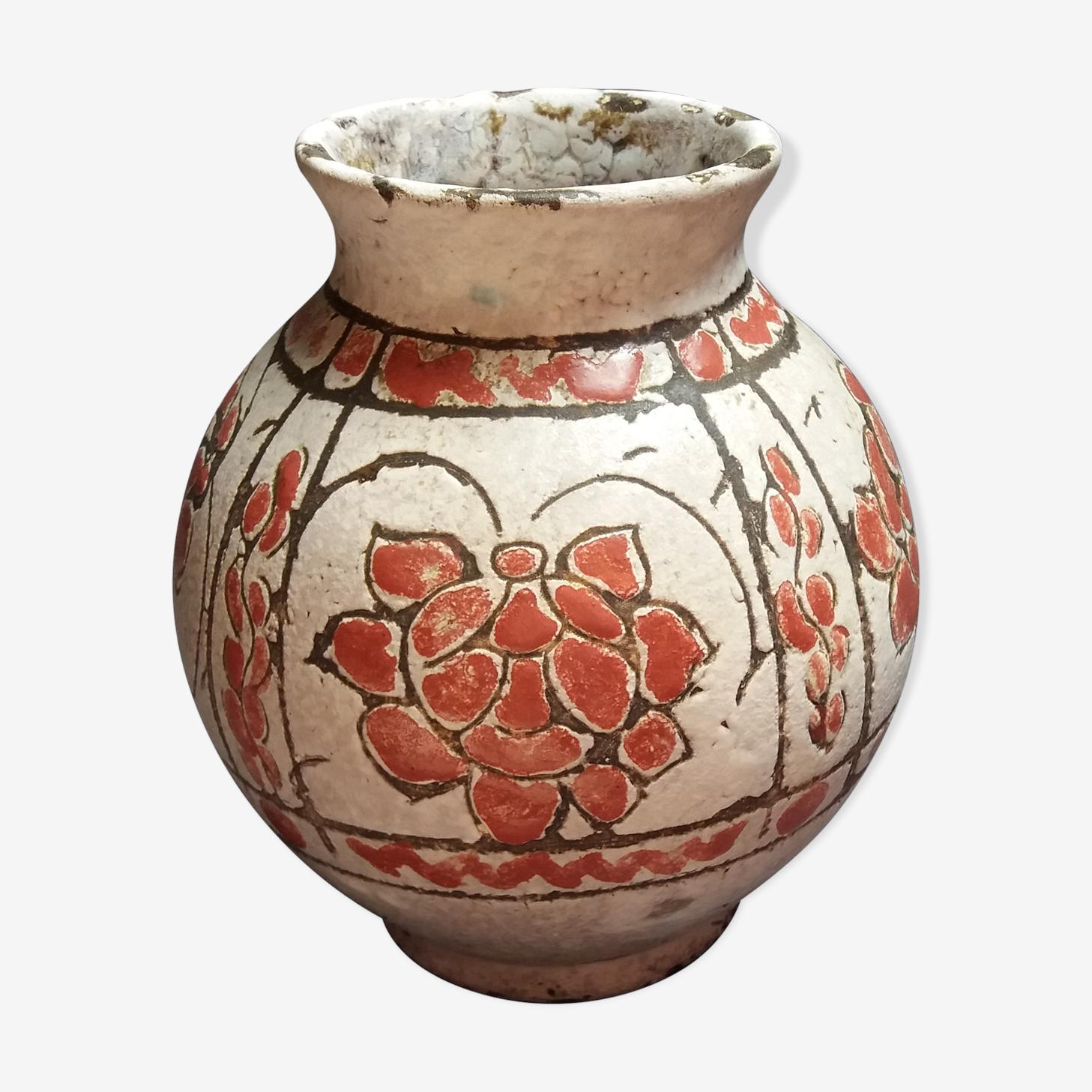 Vase en céramique signé J Massier Vallauris
