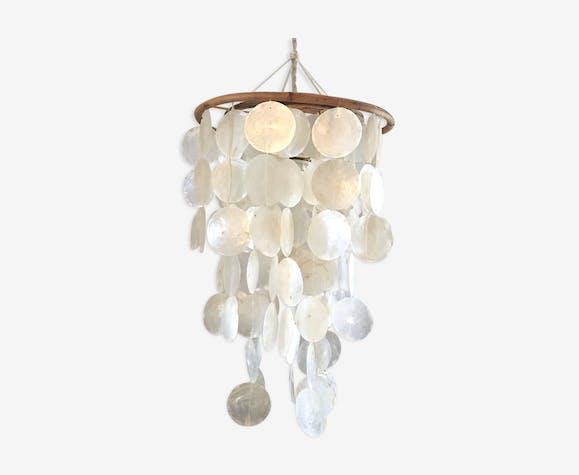 En Nacre Vintage Opaline Cascade À Suspension Pampille Blanc EW9eDIYH2