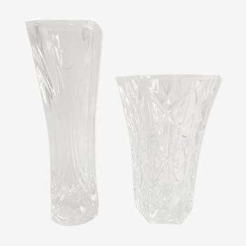 Paire de vases en cristal d'Arcques