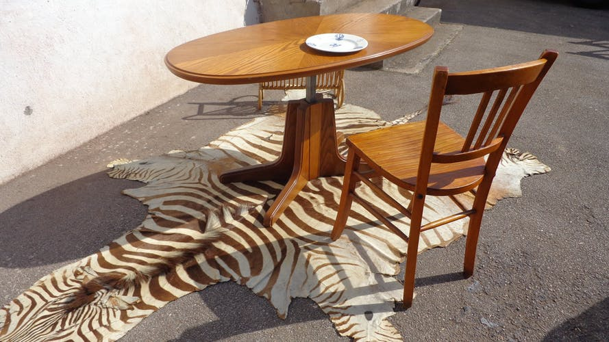 Table elevatrice vintage ovale