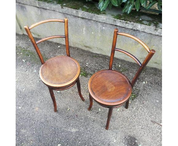 Chaises de bistro par Mundus des années 40 en Auriche