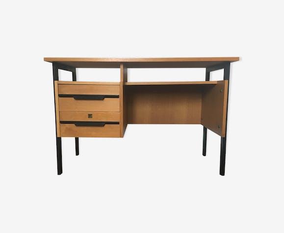 Bureau vintage en chêne et bois noir bois matériau bois