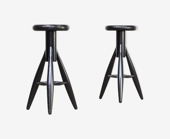 Eero Aarnio 'EA001' black stool for Artek 1990