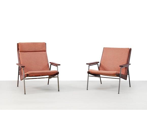 Ensemble de deux fauteuils en teck Rob Parry pour Gelderland