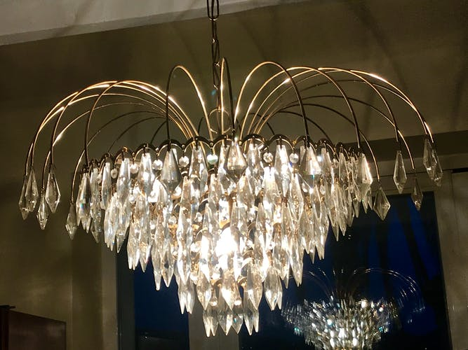 Venini Murano crystal chandelier 1980