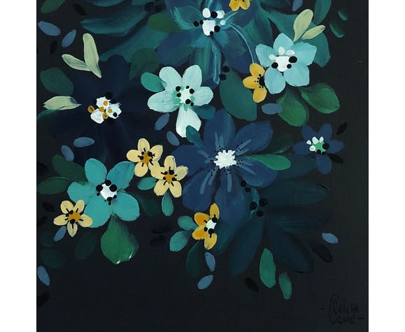 Fleurs jaunes et feuillage