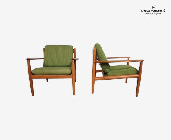 Paire de fauteuils Grete Jalk 118