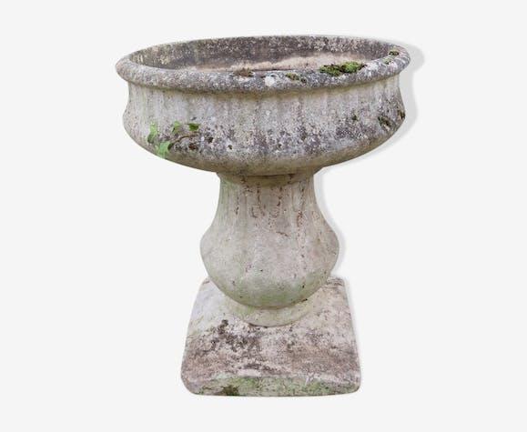 Vasque sur pied pierre reconstituée - pierre et plâtre ...