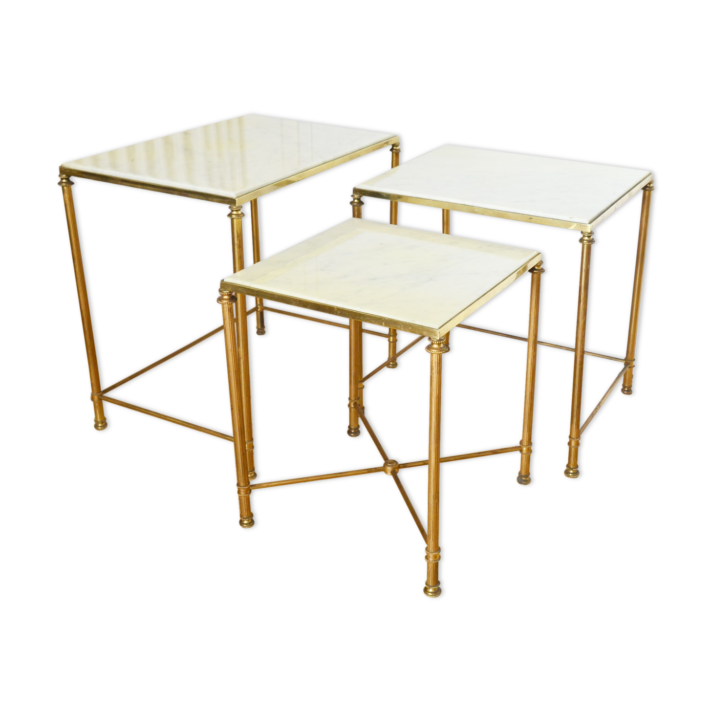 tables gigognes blanches lot tables gigognes marbre blanc annes with tables gigognes blanches. Black Bedroom Furniture Sets. Home Design Ideas