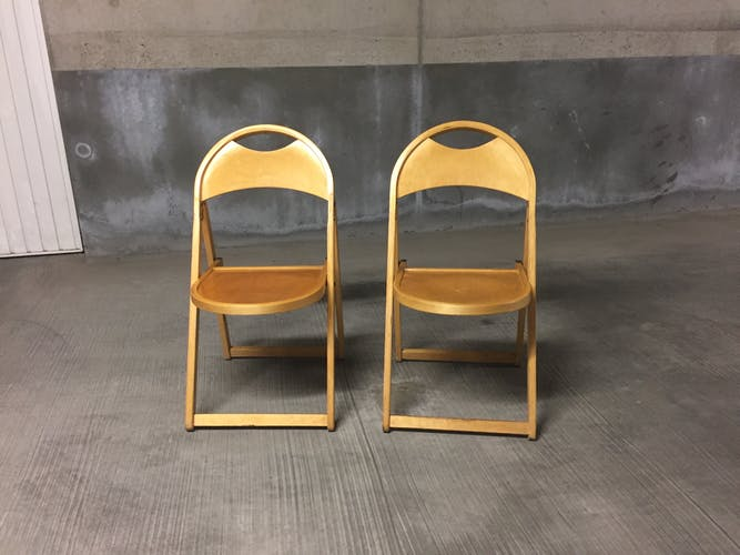 Lot de 5 chaises pliantes vintage pour OTK 1950  n°23