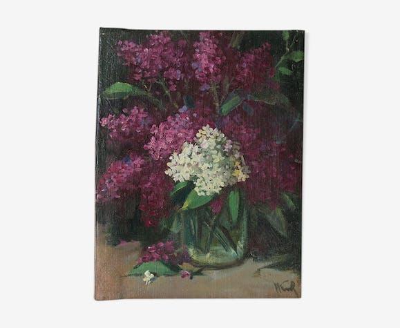 """Tableau """"bouquet de Lilas"""""""