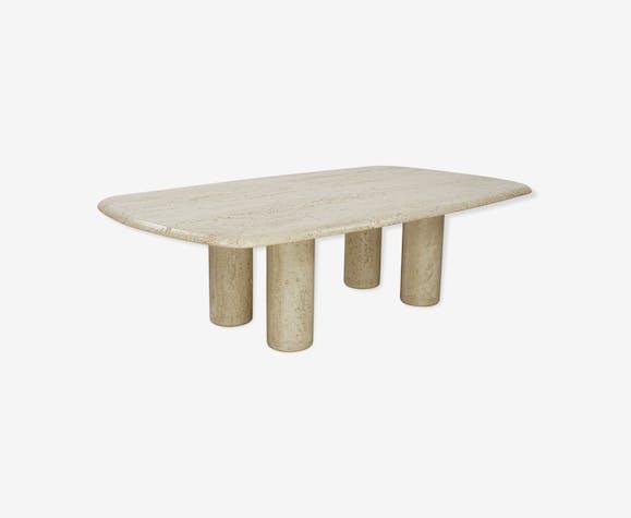 Table basse en travertin italien années 70