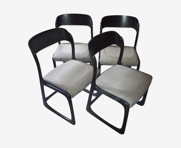 Set de 4 chaises Baumann traineau