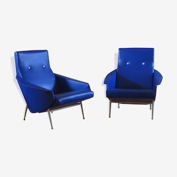 Paire de fauteuils Guy Besnard année 60
