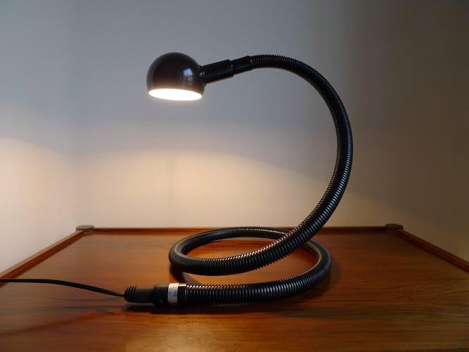 Table lamp by Valenti Luce Isao Hosoe «Hebi» Italy 1972