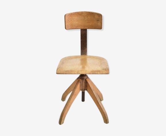 Chaise pivotante Ama Elastik en bois clair