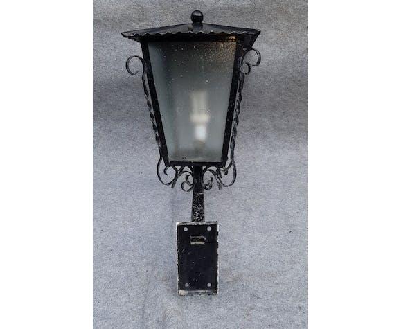 Pair of wrought iron garden lantern 1950