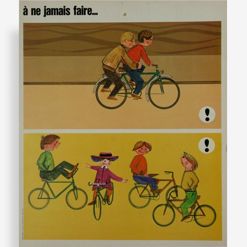Affiche des années 60 sur le thème de la sécurité