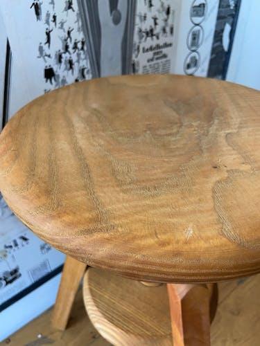 Tabouret d'architecte à vis en bois