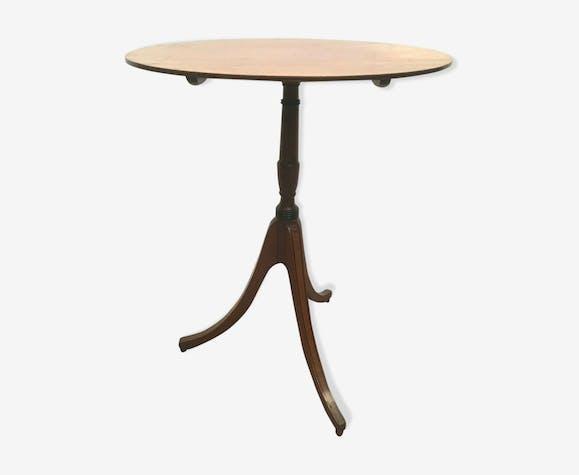 Guéridon tripode a plateau basculant table d'appoint en acajou XX siècle