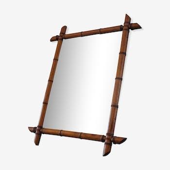 71 X 57 bamboo mirror