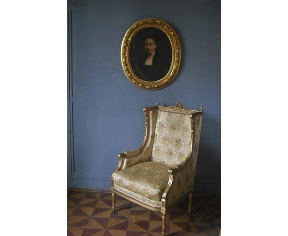Portrait à vue ovale 80 x 70