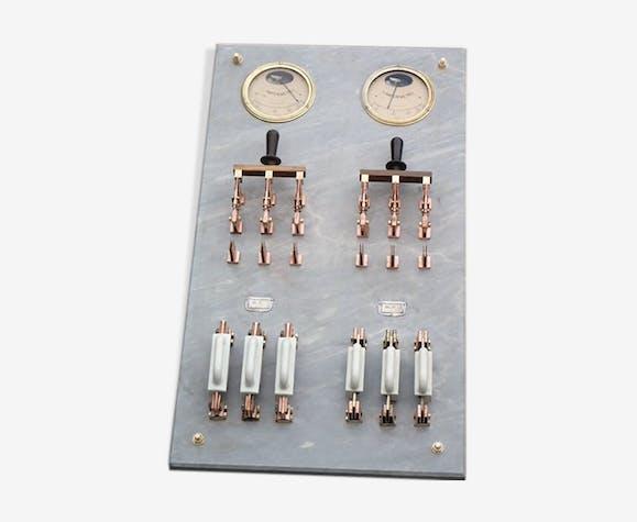 Panneau de contrôle électrique d'usine, fin 19ème