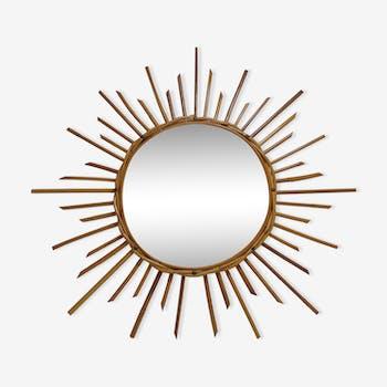 Bamboo sun mirror 60 - 65x65cm