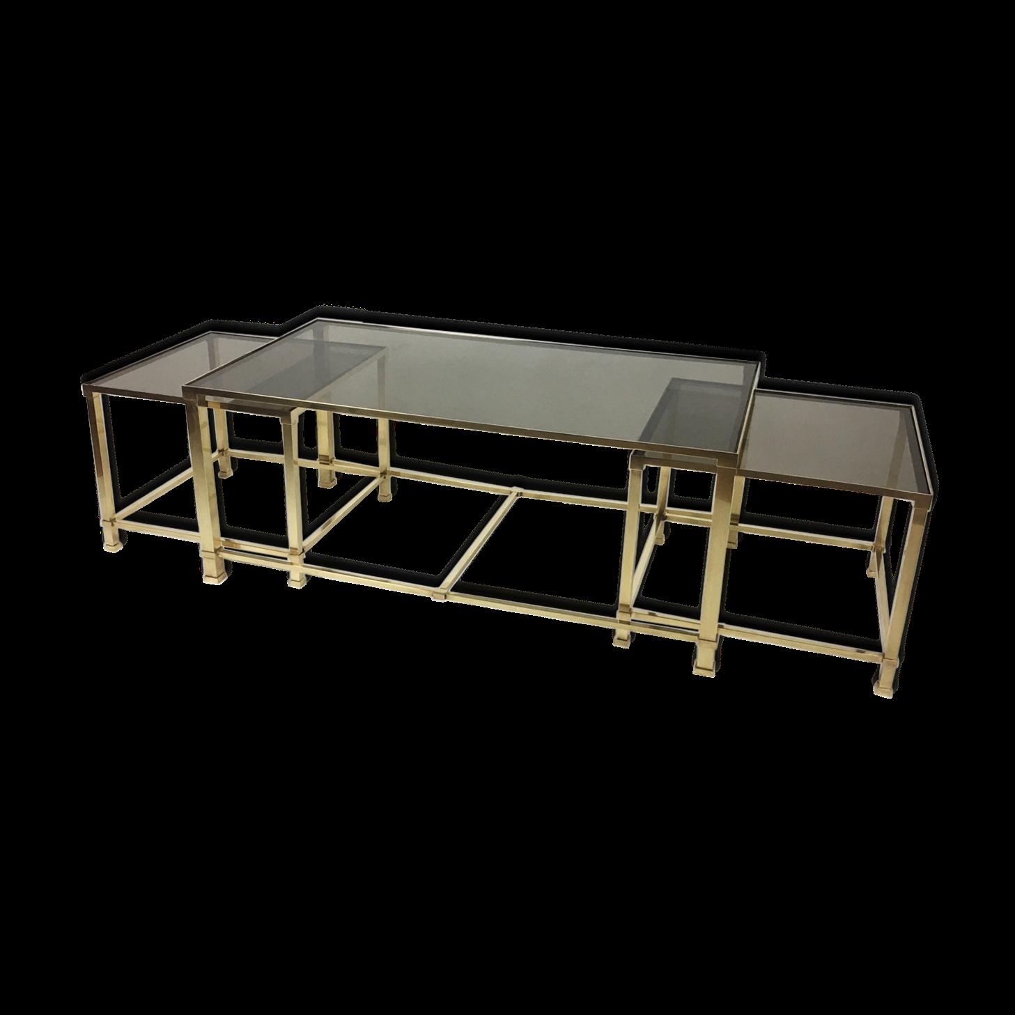 Table basse gigognes en bronze Maison Jansen 50-70