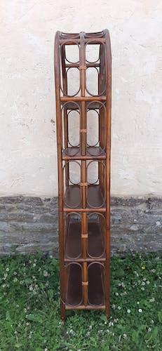 Etagère bambou osier rotin 185cm vintage