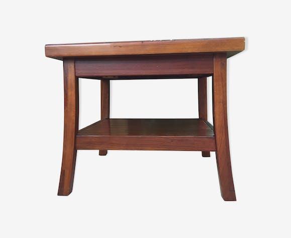 Table basse de style asiatique en bois exotique - bois ...