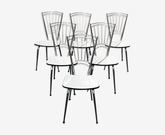 Six chaises en formica