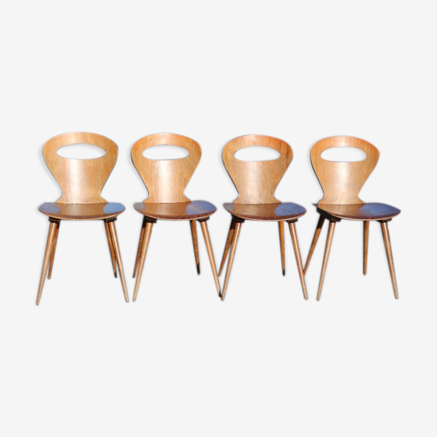 4 chaises baumann 1970