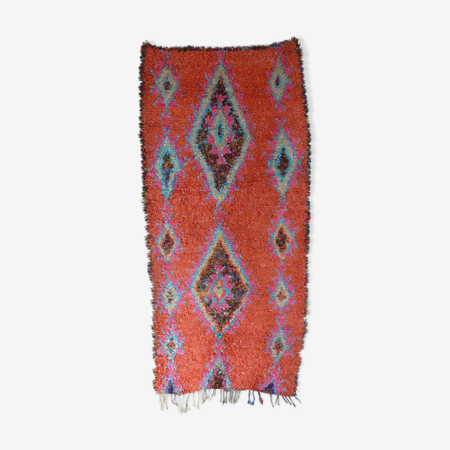 Superbe tapis boucherouitte berbère 85x230cm