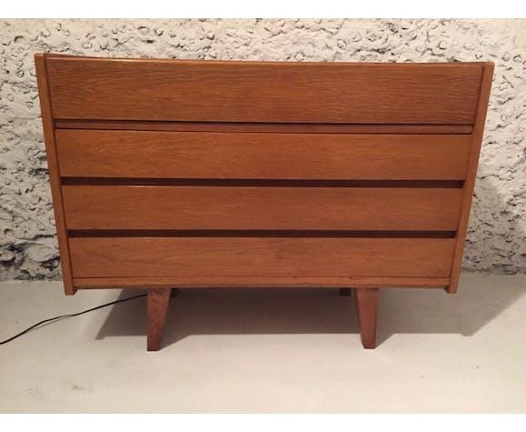 Coiffeuse années 50 en bois clair