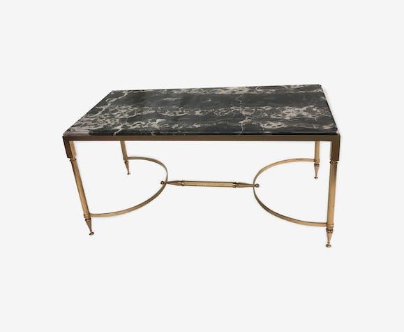 Table basse laiton et marbre style néoclassique