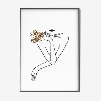 Flower woman - 30x42cm