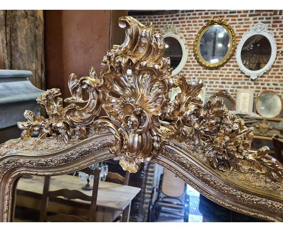 Miroir doré style Louis XV